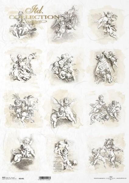 Reispapier für Decoupage - Putti - A3