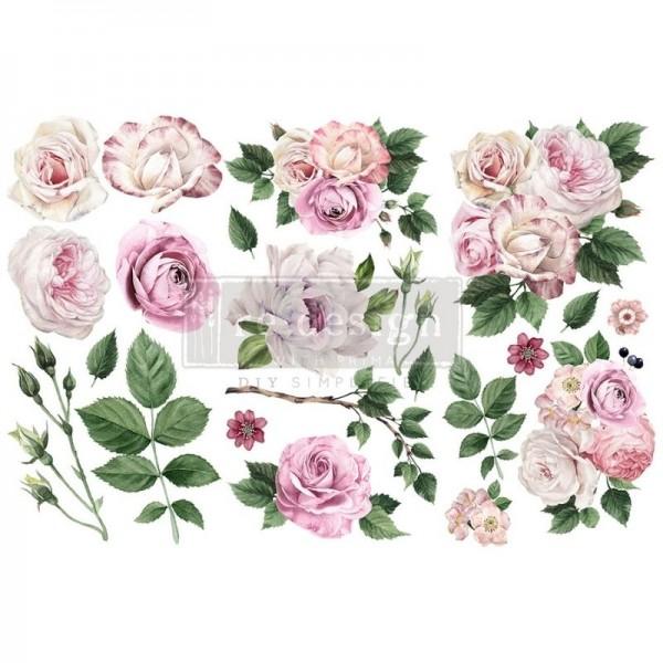 "Transfers ""Delicate Roses"", 3-tlg. á 15,24 x 30,43 cm von ReDesign"