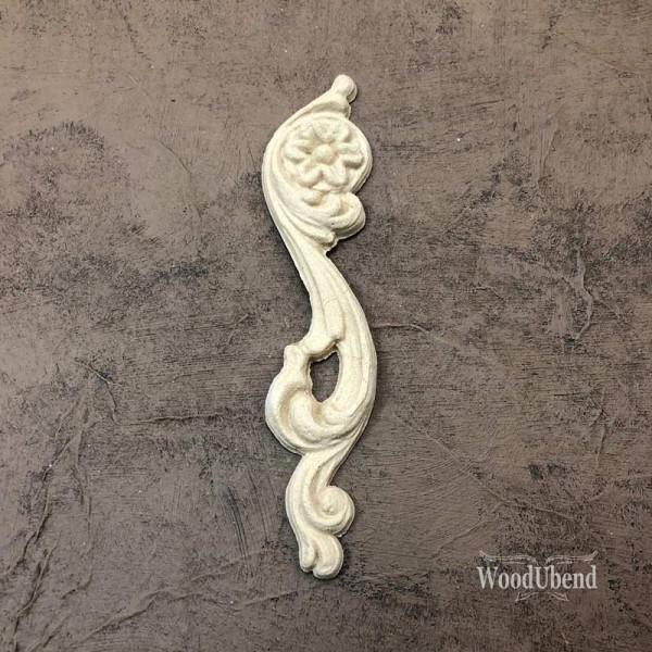 WoodUbend Schriftrolle - links - Ornament 12,2 x 2,8 cm
