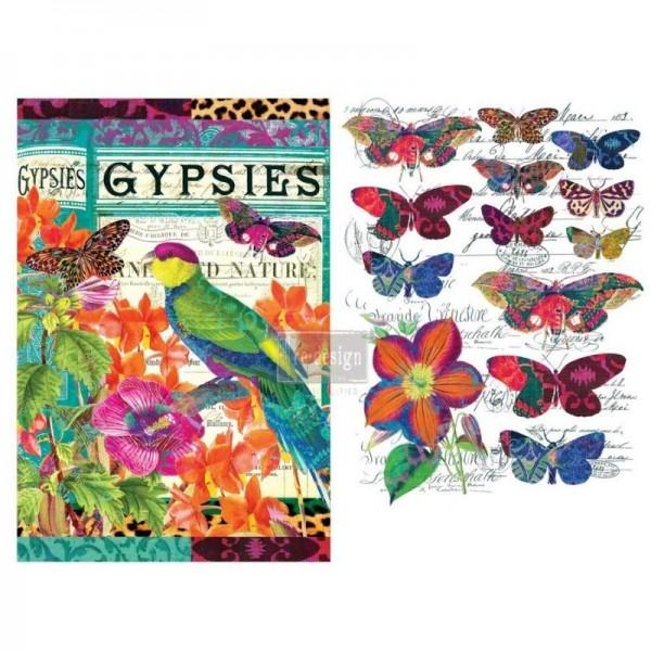 """Transfer """"Boho Bird Butterfly"""" 55,88 x 76,2 cm von Redesign"""