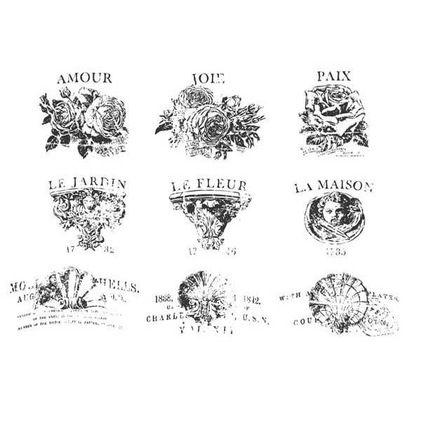 "Decor Transfer ""French Pots V"" - Iron Orchid Designs (IOD)"