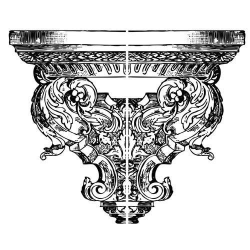 "Decor Stempel ""Persephone End"" - Iron Orchid Designs"