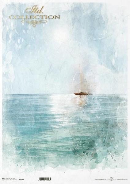 Reispapier für Decoupage - Sail away - A3