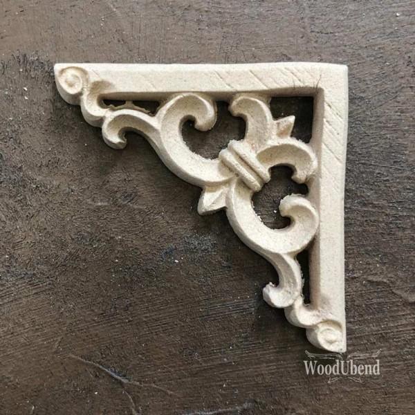 WoodUbend Barock Corner - Ornament - 5,9 x 5,9 cm