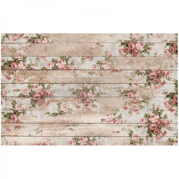 """Decoupage Tissue Papier """"Shabby Floral"""" 48,26 x 76,20 cm"""