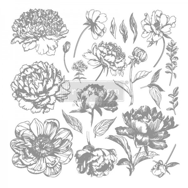 """Decorstempel """"Linear Floral"""" von Redesign"""