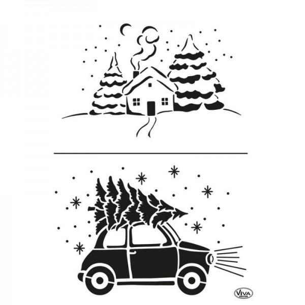 Schablone Home For Christmas A4 von Viva Decor