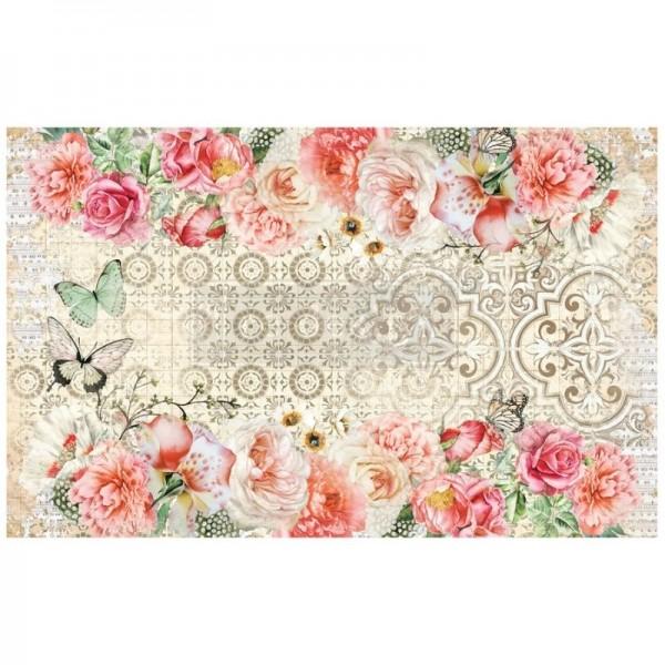 """Decoupage Tissue Papier """"Living Coral"""" 48,26 x 76,20 cm"""