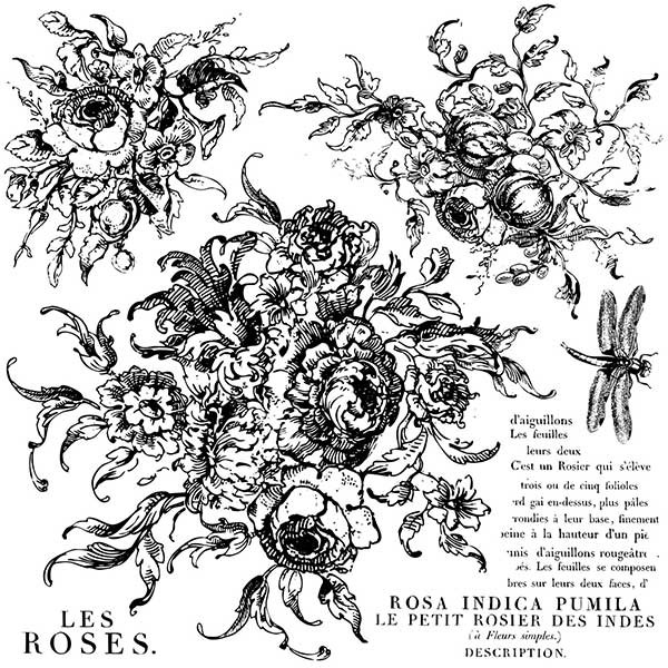 "Decor Stempel ""Rose Toile"" - Iron Orchid Designs (IOD)"