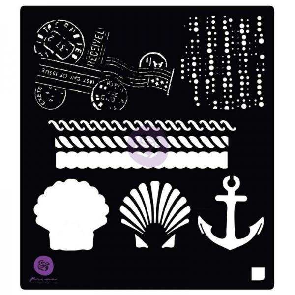 Decor Schablone French Riviera Anchor & Shell ca. 15 x 15 cm Motivgröße von ReDesign