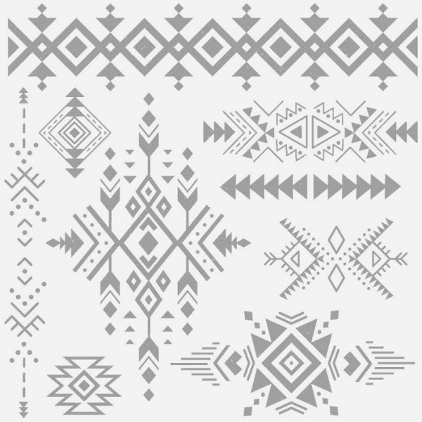 Dekorstempel Tribal Prints - 9-teilig von ReDesign