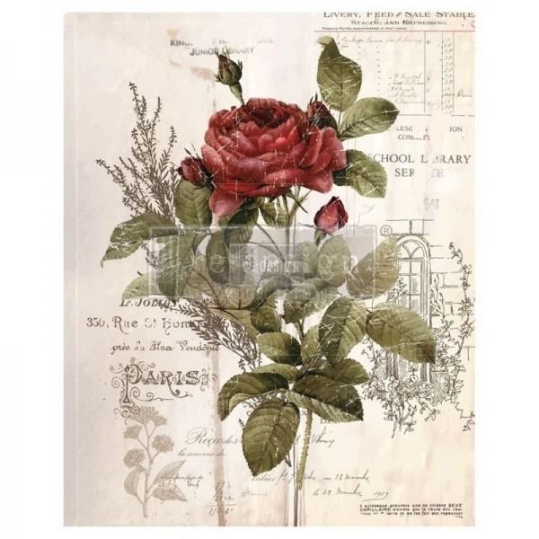 "Transfer ""Botanical Rose"" 60,96 x 86,36 cm von Redesign"