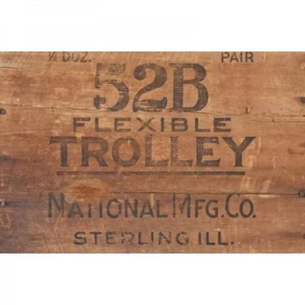 "Decoupage Tissuepapier ""Wood Crate Trolley"" 50,8 x 76,2 cm von Roycycled Treasure"