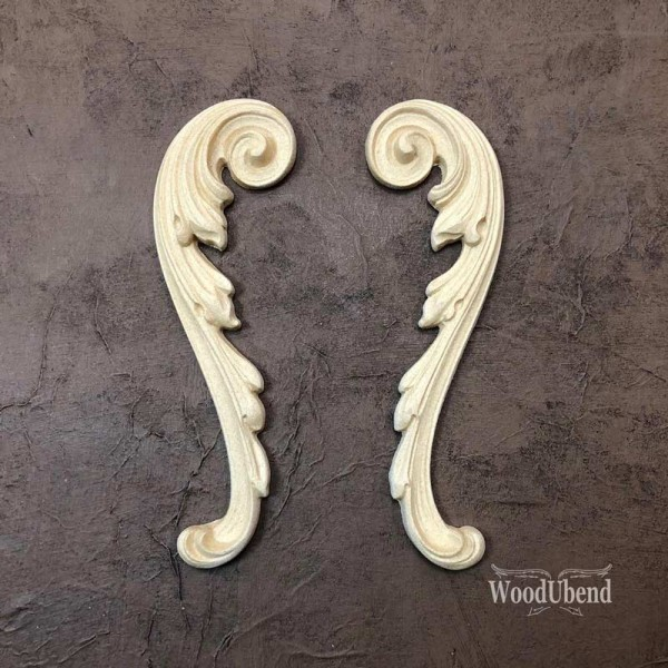 WoodUbend Schriftrolle - 2er Set - Ornament 20 x 5 cm