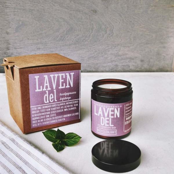 "Duftkerze aus Sojawachs ""Lavendel"""
