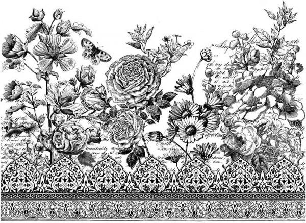 "Decor Transfer ""Astoria Foliage"" bemalbar""- Iron Orchid Designs (IOD)"