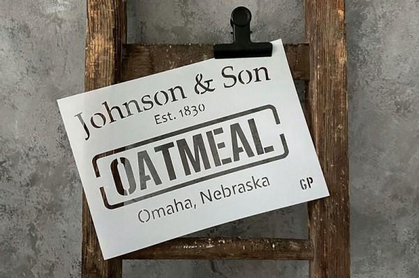 """Schablone """"Oatmeal"""" von gonepaintin´"""
