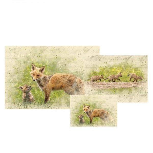 Decoupage Papier Set Foxy Mama von Grace on Design