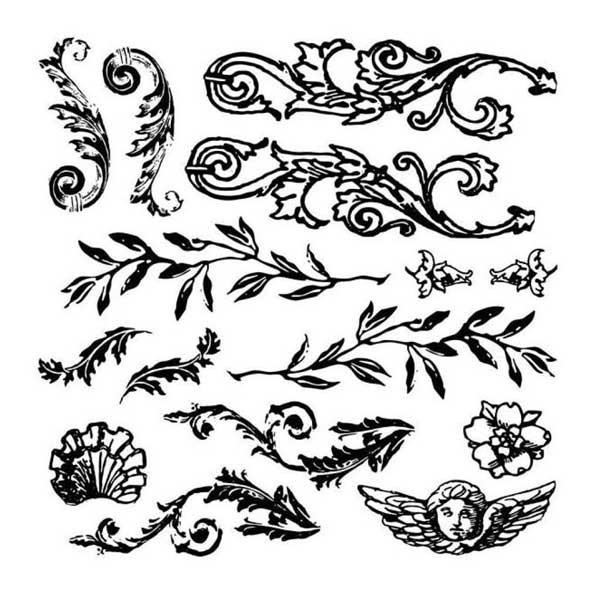"Decor Stempel ""Flourished"" - Iron Orchid Design (IOD)"