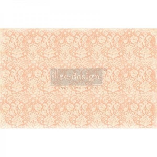"""Decoupage Tissue Papier """"Peach Damask"""" 48,26 x 76,20 cm von Redesign"""