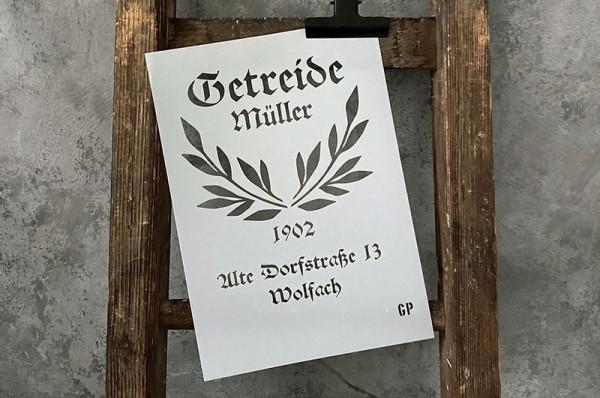 """Schablone """"Getreidemüller"""" von gonepaintin´"""