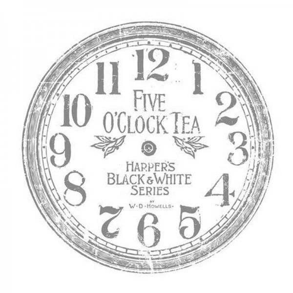 "Decor Transfer ""Clock 12 inch"" - Iron Orchid Designs"