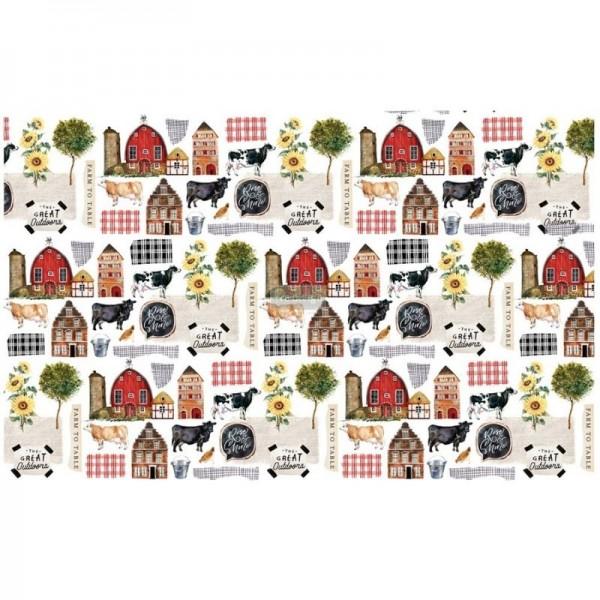"Decoupage Tissue Papier ""Farm To Table"" 48,26 x 76,20 cm von Redesign"