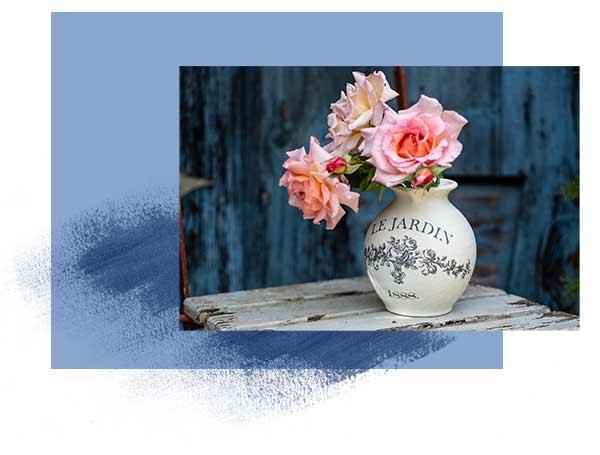 Vase mit Kreidefarbe streichen