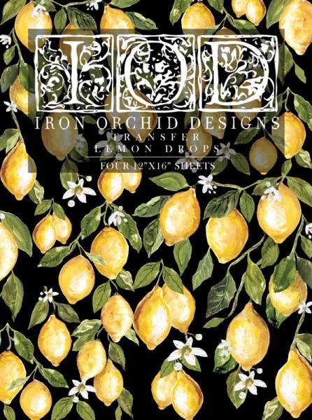 "Decor Transfer ""Lemon Drops""- Iron Orchid Designs"