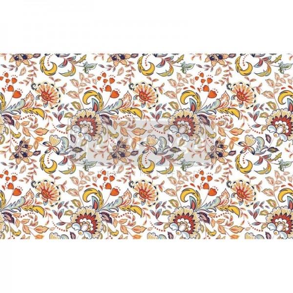 Decoupage Tissue Papier Tangerine Spring 48,26 x 76,20 cm von Redesign
