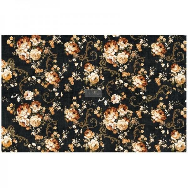 "Decoupage Tissue Papier ""Dark Floral"" 48,26 x 76,20 cm"