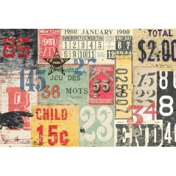 """Decoupage Tissuepapier """"Numbered Decollage"""" 50,8 x 76,2 cm von Roycycled Treasure"""