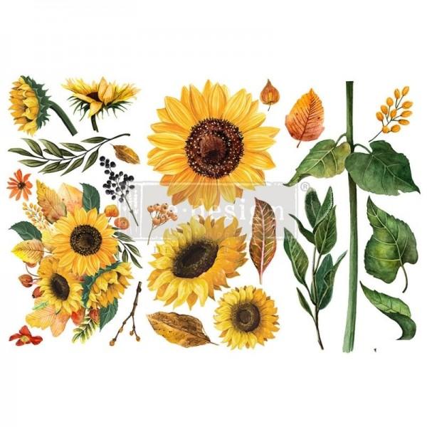 """Transfers """"Sunflower Afternoon"""", 3-tlg. á 15,24 x 30,43 cm von ReDesign"""