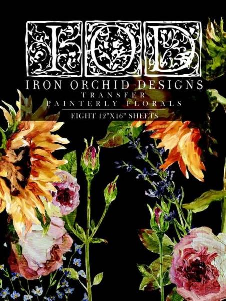 Florales Rubbelbild für Möbel und Leinwände