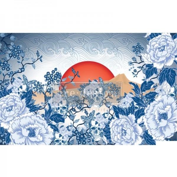 """Decoupage Tissue Papier """"CECE Skull Chinoiserie"""" 48,26 x 76,20 cm von ReDesign"""