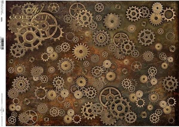 Reispapier für Decoupage - Steampunk - A3