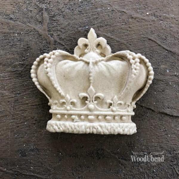 WoodUbend Krone klein - Ornament 6 x 4 cm
