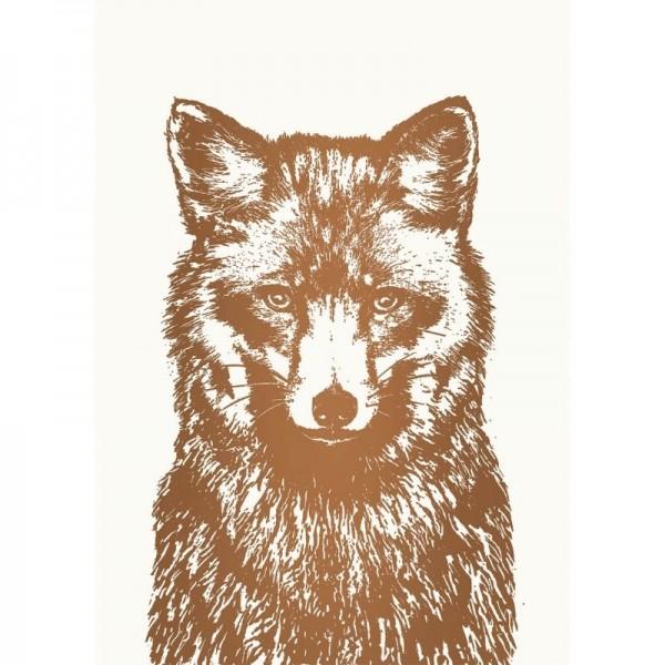 Postkarte mit Fuchsmotiv