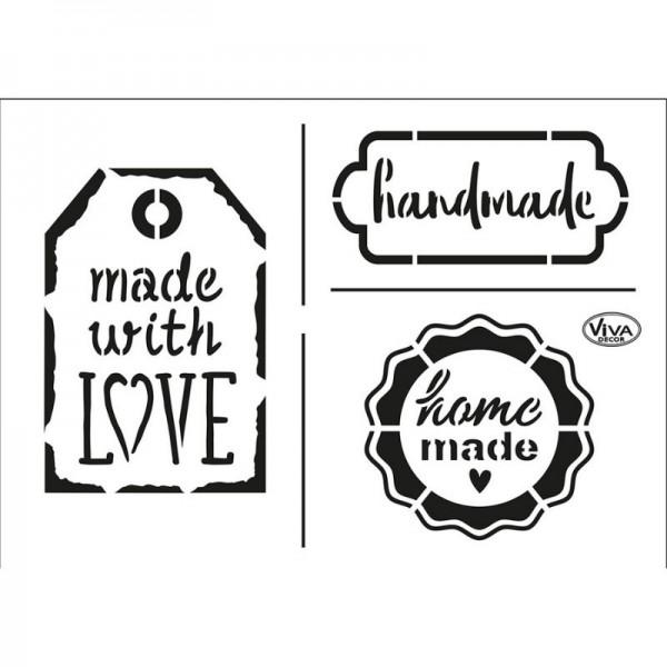 """Schablone """"Handmade"""" A5 von Viva Decor"""