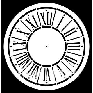 """XXL-Schablone """"Posh o'Clock"""" 80 x 80 cm"""