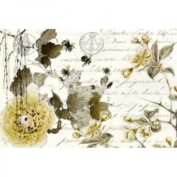 "Decoupage Tissuepapier ""Sepia Blossom"" 50,8 x 76,2 cm von Roycycled Treasure-"