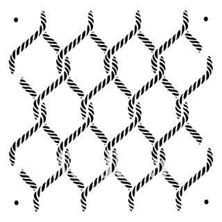 """XXL-Schablone """"Posh Knots"""" 60 x 60 cm"""
