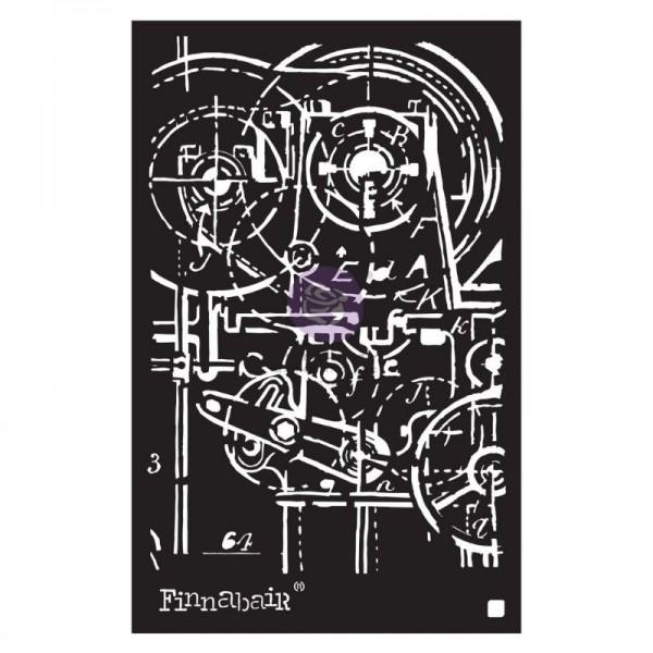 Decor Schablone Machinery ca. 15 x 22 cm Motivgröße von Finnabair /ReDesign