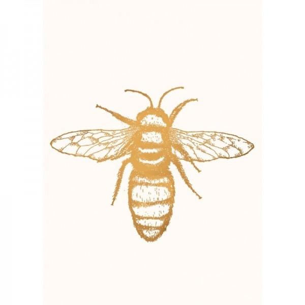 Postkarte mit Bienenmotiv