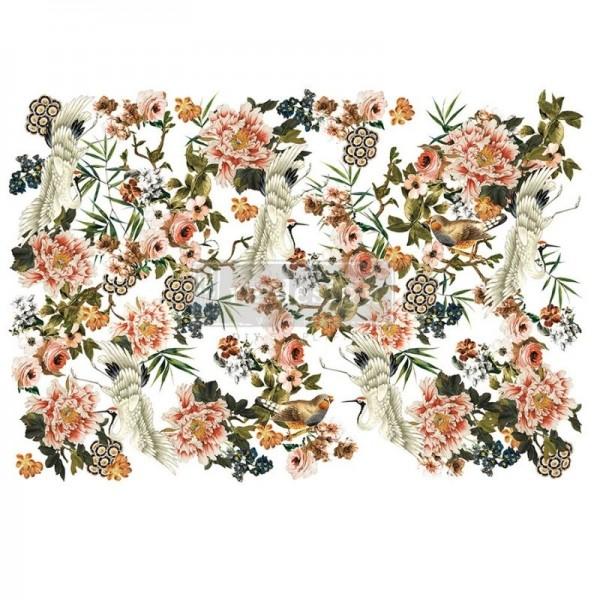 """Transfer """"Elegance & Flowers"""" 88,9 x 121,92 cm von Redesign"""