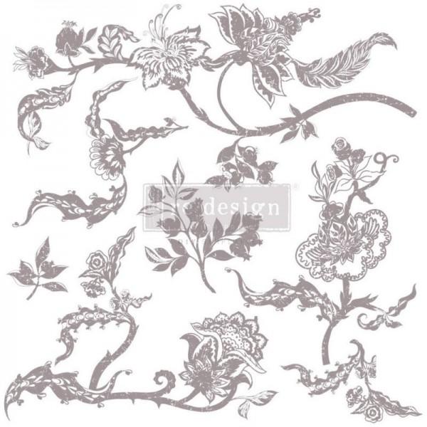 Stempel mit floralen Motiven