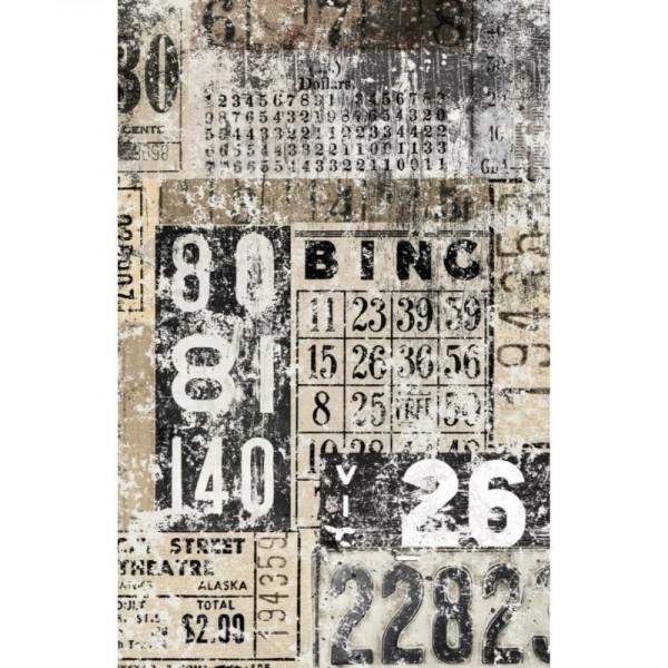 "Decoupage Tissuepapier ""Grunge Numbers"" 50,8 x 76,2 cm von Roycycled Treasure"