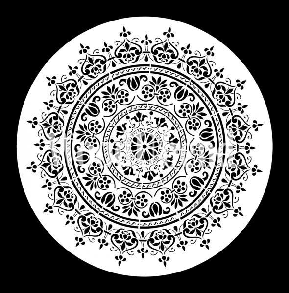 """Schablone """"Mandala"""" groß von Posh Chalk"""