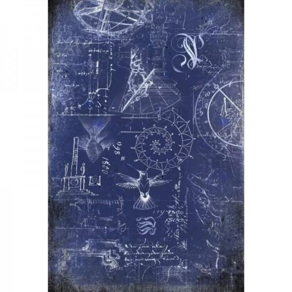 "Decoupage Tissuepapier ""Renaissance Blueprint"" 50,8 x 76,2 cm von Roycycled Treasure"