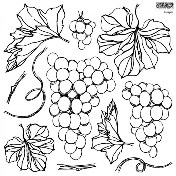 "Decor Stempel ""Grapes"" - 1 Bogen - Iron Orchid Designs (IOD)"